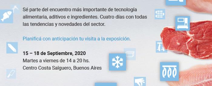Sé parte del encuentro más importante de tecnología alimentaria, aditivos e ingredientes. Cuatro días con todas las tendencias y novedades del sector. Planificá con anticipación tu visita a la exposición.